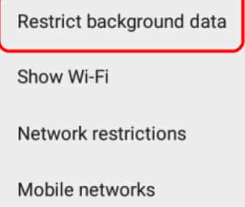 Restricting background applications